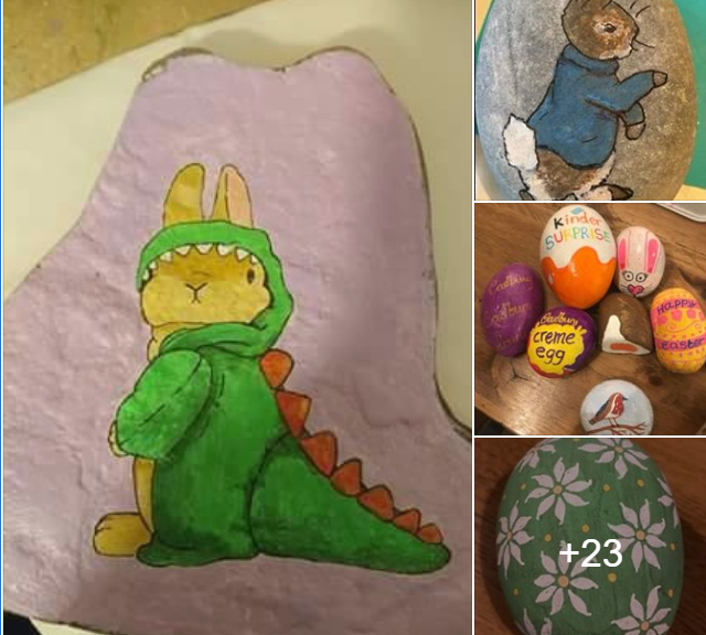 Easter Themed painted rocks
