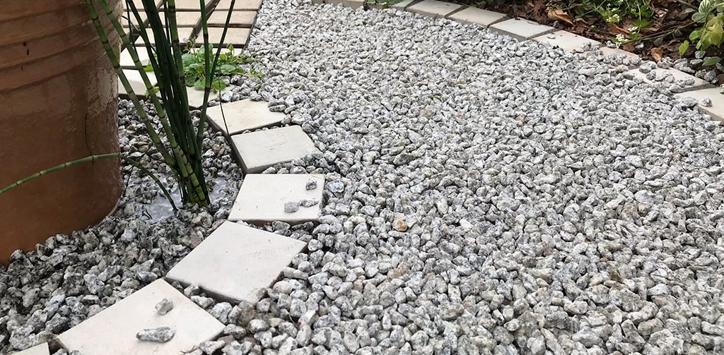 Top 5 garden ideas from Harrogate Flower Show, grey gravel making a pathway.
