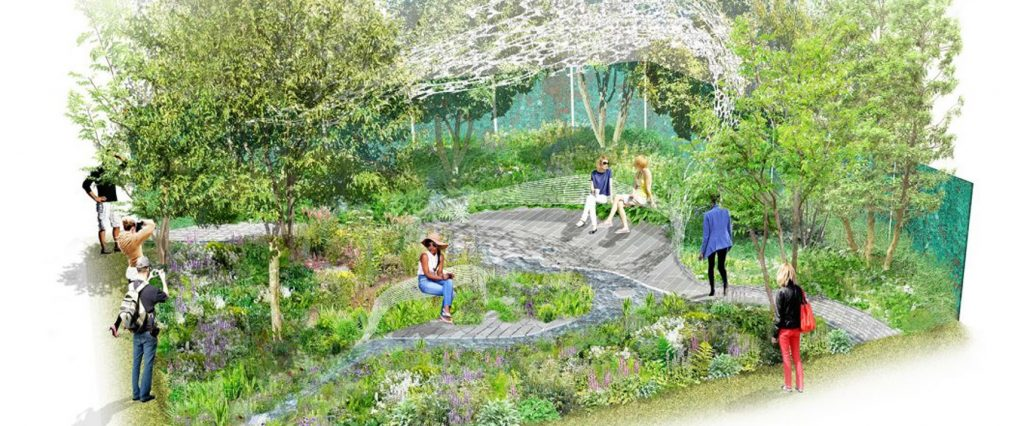 What-to-see-at-rhs-chelsea-2019-marketing-manchester. Illustration of The Manchester Garden