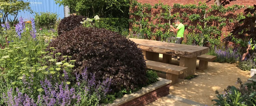 Finishing touches to the WEdgwood Garden