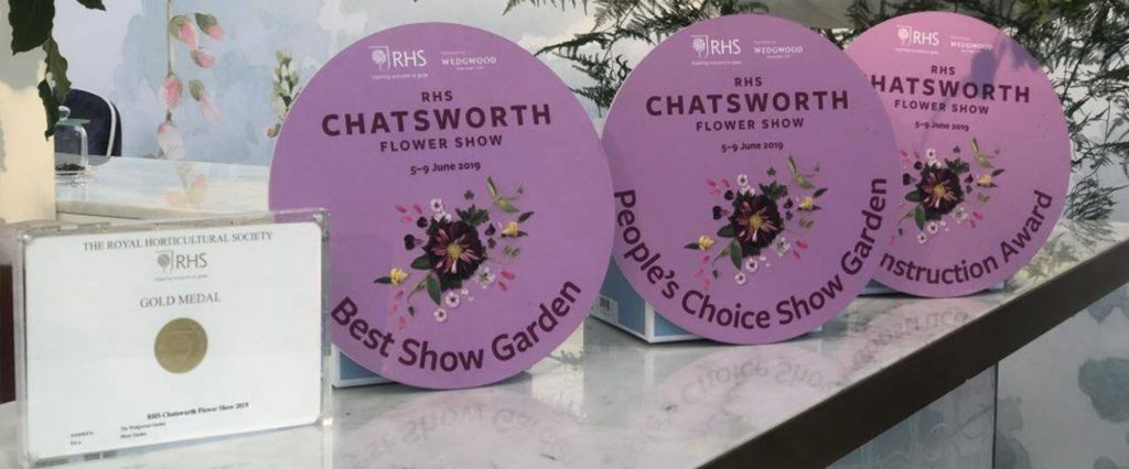 Awards given to the Wedgwood Garden at RHS Chatsworth