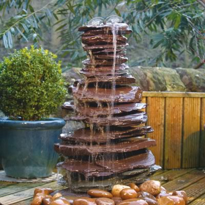 water feature ideas - slate paddlestone stack