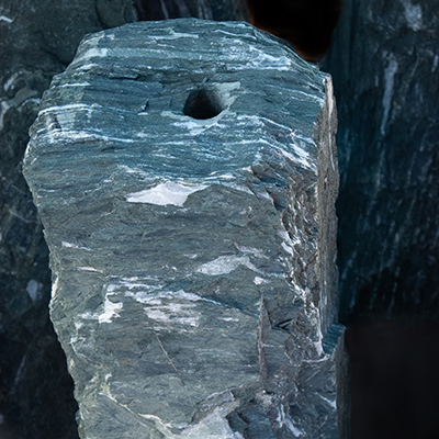 water feature ideas- monolith in angel green