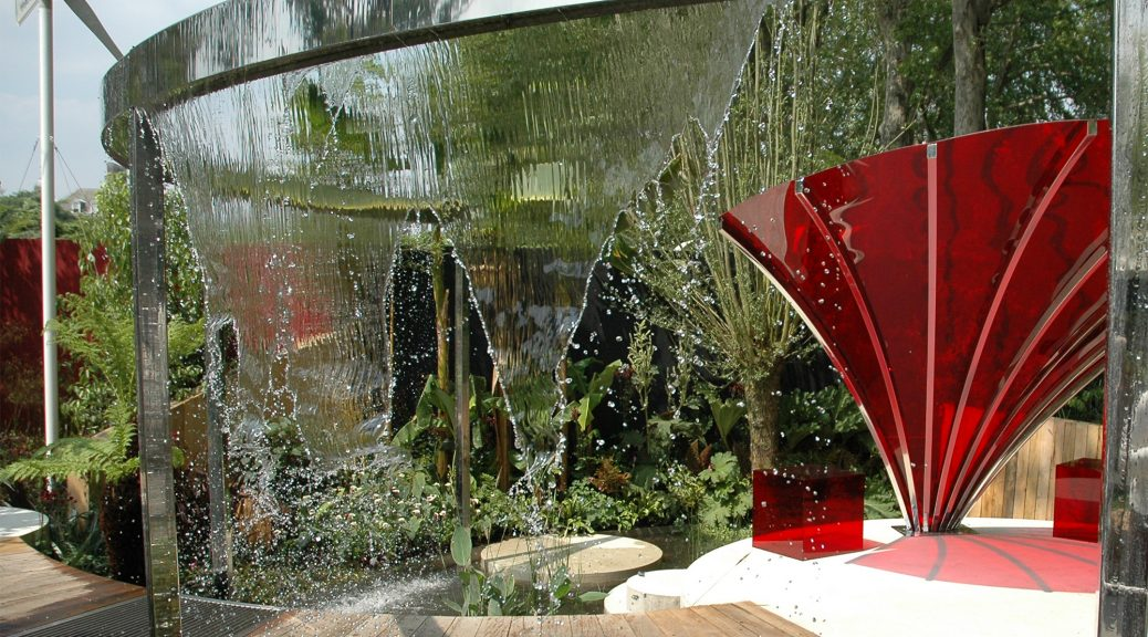 water feature ideas contemporary styles rain curtain