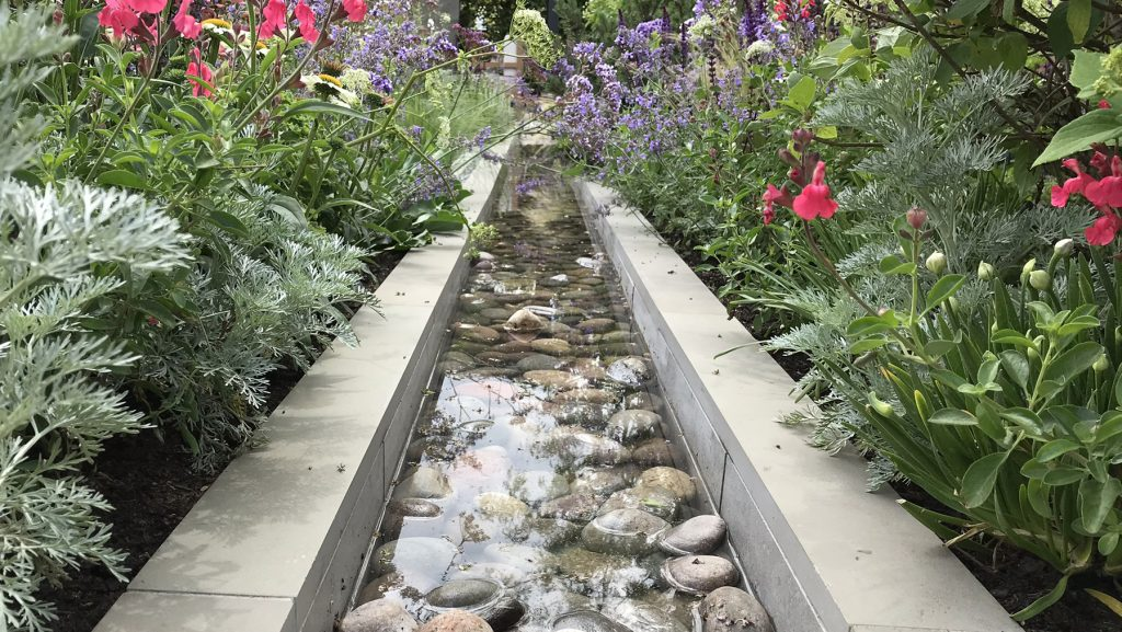 water feature ideas contemporary water rill