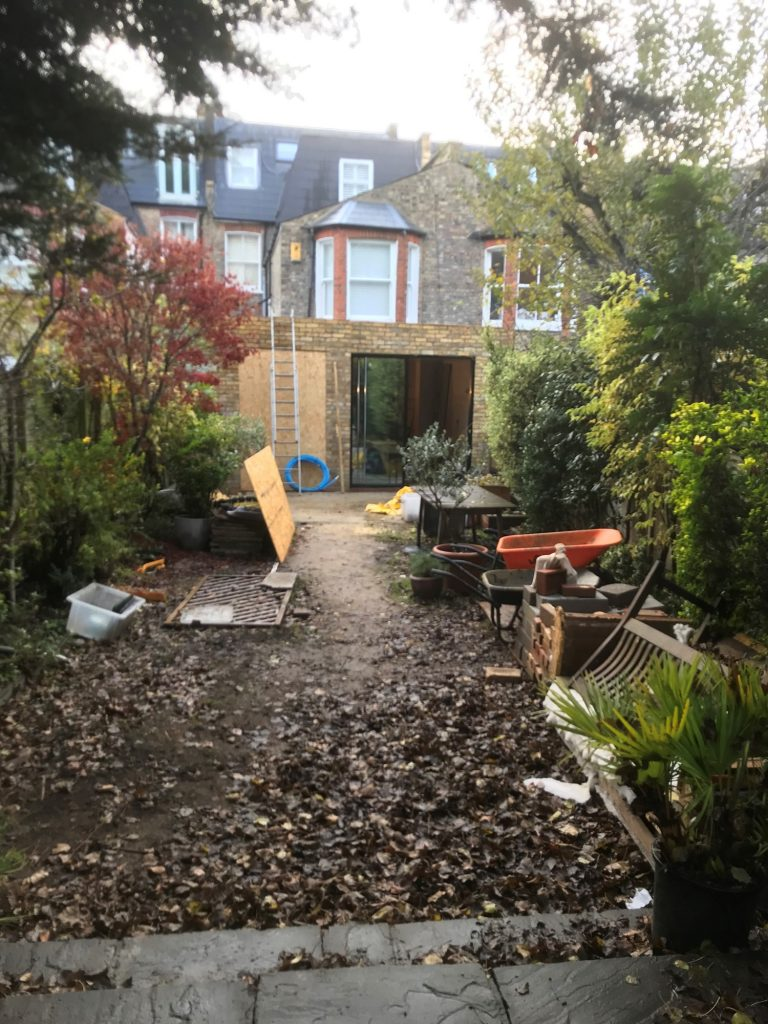 Picture of the garden before
