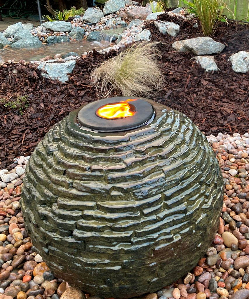 stacked sphere fountain