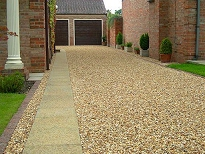 Corn Flint Gravel used on a Driveway in York