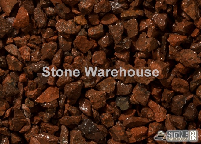 Red Granite Chippings 10mm Rockery Stone