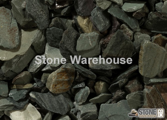 Green Slate Chippings 20mm