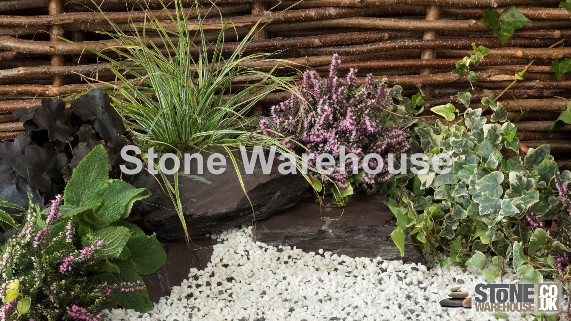 3-8mm derbyshire spar aggregate garden borders paths japanese garden