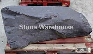 Large Drilled Slate Monolith 9