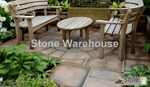 Acorn Brown Bronte Paving Circle 1.8m