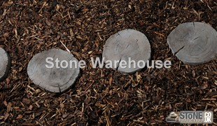 Log Effect Stepping Stones Brown