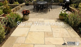 Fossil Mint Sandstone Paving