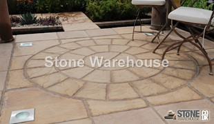 Honey Brown Bronte Paving Circle 1.8m