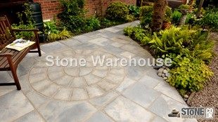 Weathered Buff Bronte Paving Circle 1.8m