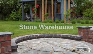 Weathered Stone Bronte Paving Circle 1.8m