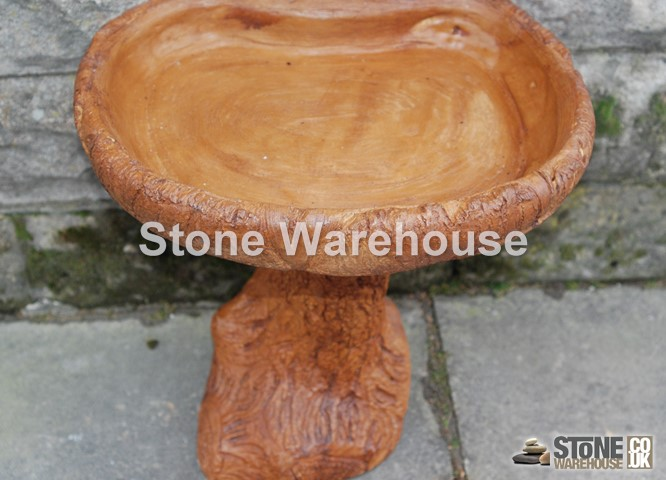 Wood Effect Bird Bath