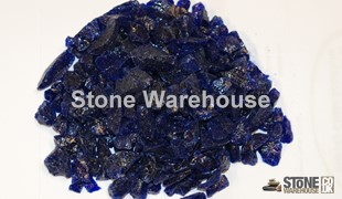 Cobalt Blue Glass Chippings 12-18mm