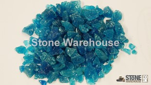 Turquoise Glass Chippings 12-18mm