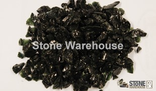 Black Glass Chippings 6-12mm