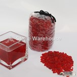 Ruby Red Glass Pouch