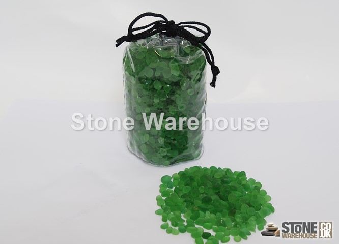 Green Glass Pouch