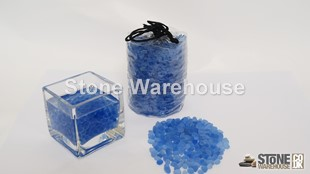 Electric Blue Glass Pouch