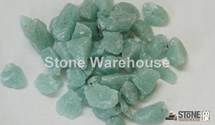 Mint Green Glass Chippings 12-18mm
