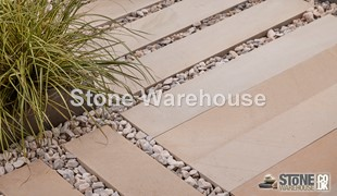 Fossil Mint Sandstone Contemporary Paving Planks