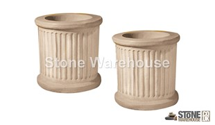 Stancombe Snowhill Plant Pot Pair