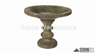 David's Small Spindle Birdbath