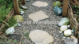 Weathered Buff Bronte Random Stepping Stones