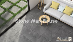 Porcelain Paving Tiles - Grey Slate