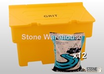Grit Bin & 12 Bags of Rock Salt