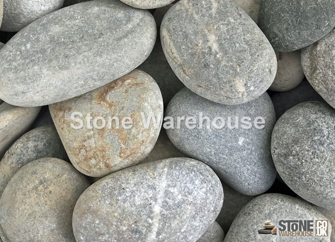 Flat Silver Pebbles 40-60mm