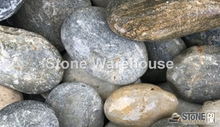 Flat Silver Cobbles 60-100mm