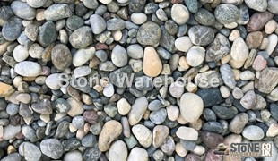 Aqua Mixed Pebbles 15mm
