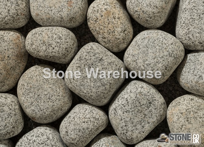 Silver Grey Cobbles 40-90mm