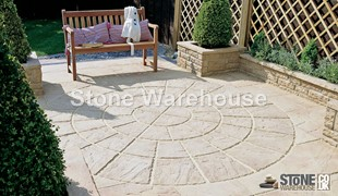 Weathered Apricot Bronte Paving Circle 1.8m