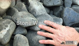 Clearance Black Ebony Cobbles 100-150mm