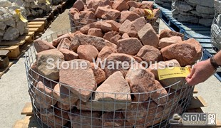 Red Sandstone Rockery 100-200mm Half Crate
