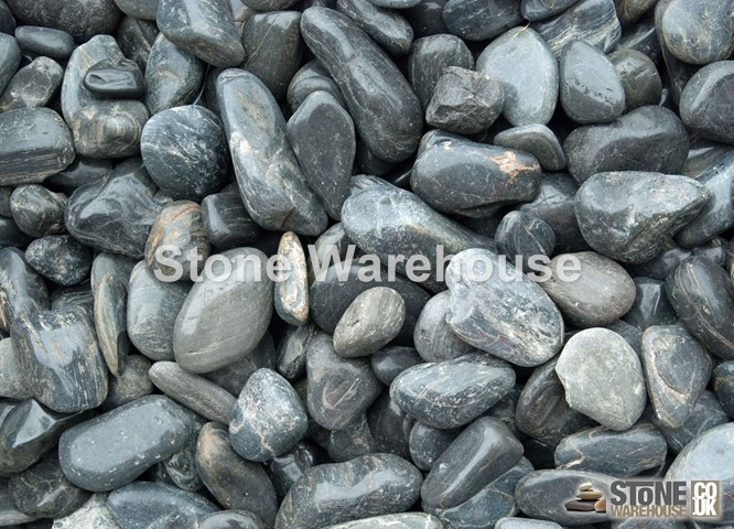 Black Polished Pebbles 15-30mm