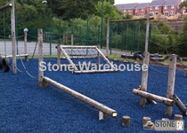 Blue Rubber Chippings For Landscaping