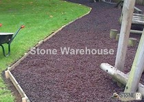 Purple Rubber Chippings For Landscaping
