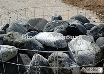 Tumbled Black Pearl Boulders c250mm